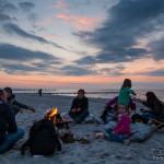 Lagerfeuer Romantik am Strand